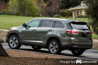 Insurance rates Toyota Highlander Hybrid in Laredo